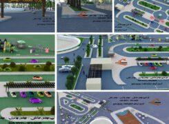 بزرگترین پارک ترافیک استان در آب پخش احداث می شود+عکس