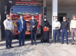 مراسم تجلیل از آتش نشانان شهرداری آب پخش برگزار شد+تصاویر