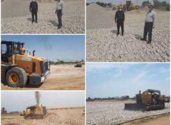 پایان عملیات اجرایی پروژه زیرسازی چمن طبیعی شهر آب پخش در آینده ای نزدیک